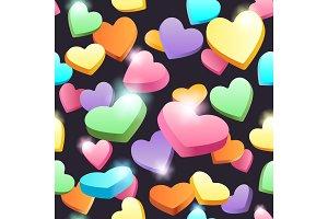 Seamless sweet hearts pattern