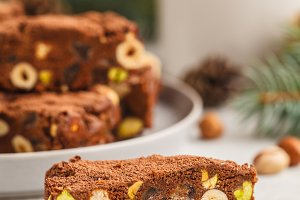Italian Christmas dessert panforte