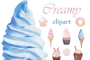 Creamy Sweets Clipart
