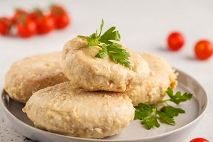 Steam chicken cutlet
