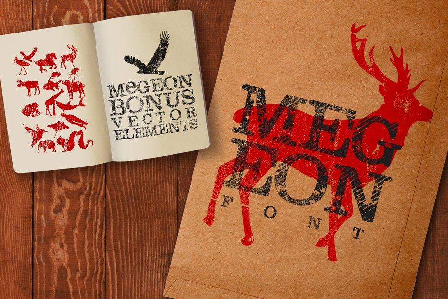 Best Megeon Font + Vector Bonus Vector
