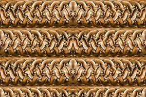 Striped Wooden Ornate  Seamless Patt