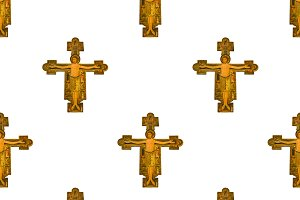 Medieval Style Jesus Christ Seamless