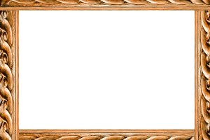 White Landscape Frame With Ornate Wo