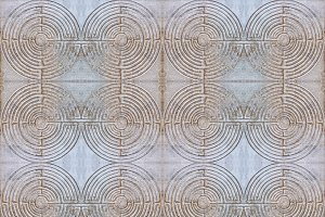 Labyrinth Stone Pattern
