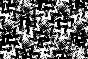 Black and White Abstract Grunge Patt