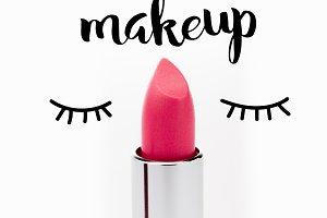 Open pink lipstick