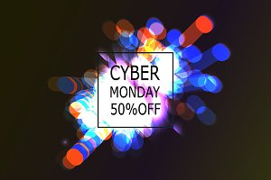 Cyber Monday Sale labels