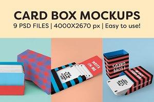 Card box mockups