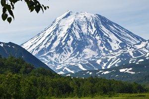 Scenery summer majestic mountain