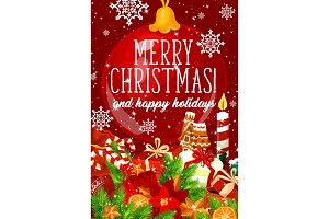 Merry Christmas gifts greeting card