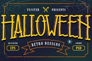 Halloween Retro Designs