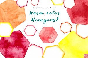 Sunny Watercolor Hexagons