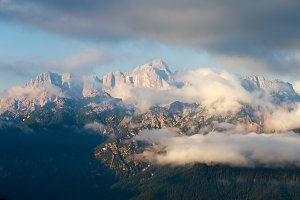 Magical Dolomites Mountains in Italy