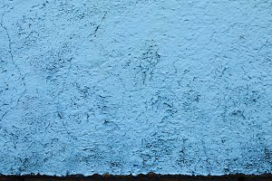Blue peeling paint