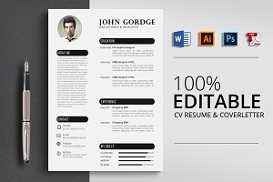 CV Resume Word Template
