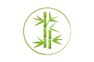 Vector bamboo logo