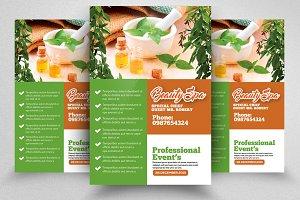 Spa Beauty Treatment Flyer Template