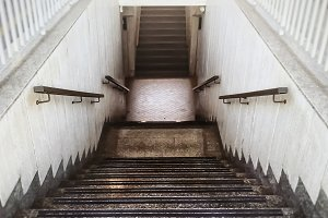 perspective view of a staircase