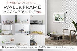 Wall & Frame Mockup Bundle v1