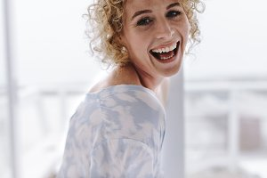 Close up of a smiling woman