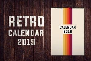 Retro Calendar 2019