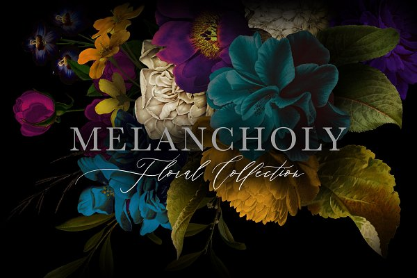 Illustrations and Illustration Products: Eclectic Anthology - Melancholy Floral Collection