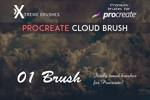 Natural Procreate Cloud Brush