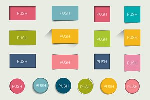 Buttons, text fields, infographic