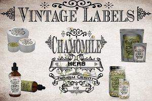 Chamomile Vintage Labels