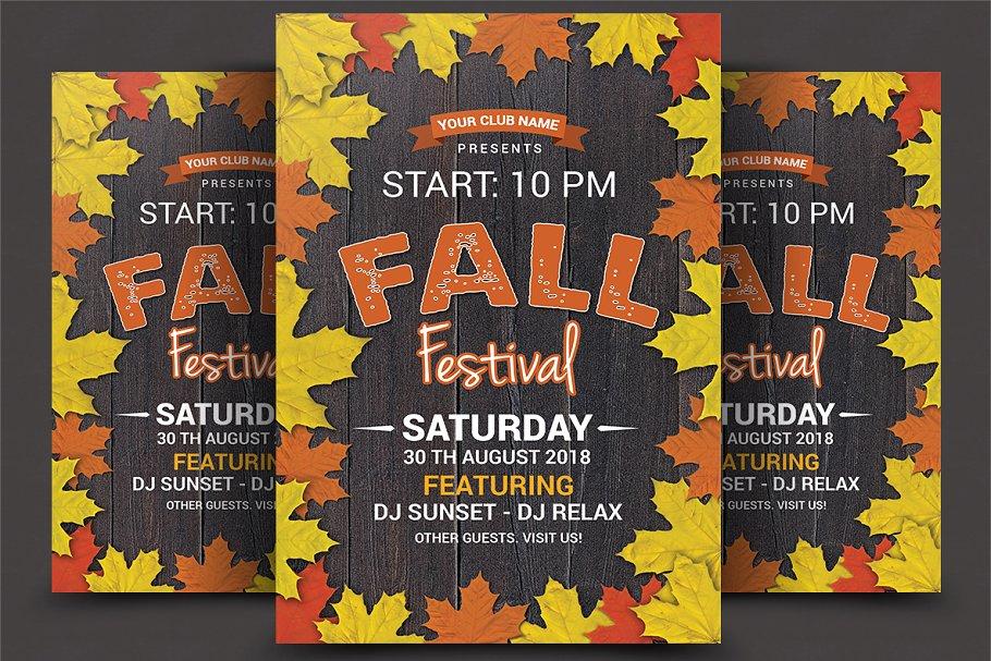 Fall Festival Flyer Flyer Templates Creative Market Pro
