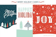 Merry Holiday Cards (3 Printable)