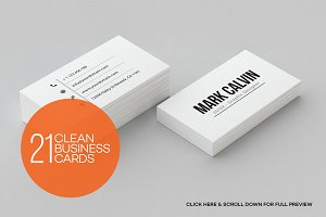 21 Clean Minimal Business Cards