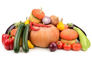 collection fresh vegetables