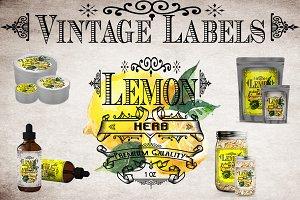 Lemon Vintage Labels