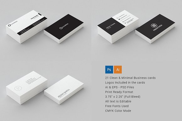 21 clean minimal business cards business card templates creative 21 clean minimal business cards business card templates creative market colourmoves