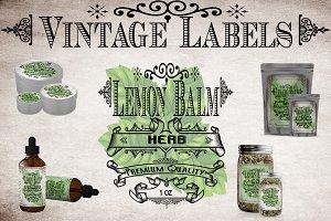 Lemon Balm Vintage Label
