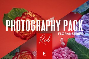 Floral Photography Pack / Red