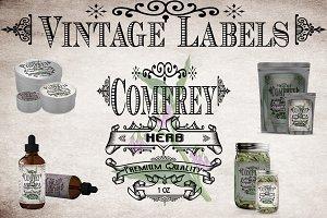 Comfrey Vintage Labels