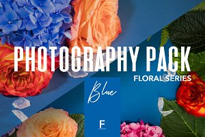 Floral Photography Pack / Blue
