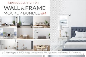 Interior Wall & Frame Mockup Bundle