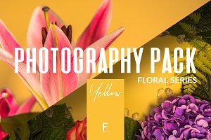 Floral Photography Pack / Yellow