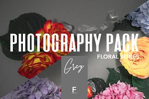 Floral Photography Pack / Grey