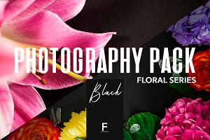 Floral Photography Pack / Black