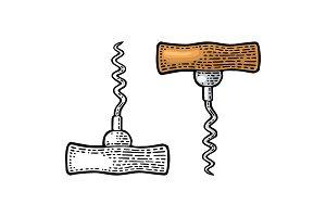 Corkscrew. Black and color vintage