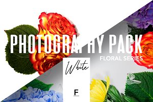 Floral Photography pack / White