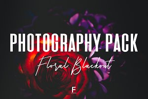 Floral Blackout Photography