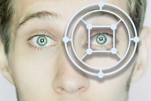 biometric eye scan identification cl