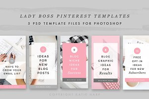 Lady Boss Pinterest Templates vol. 1