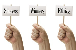 Three Signs Success, Winners, Ethics